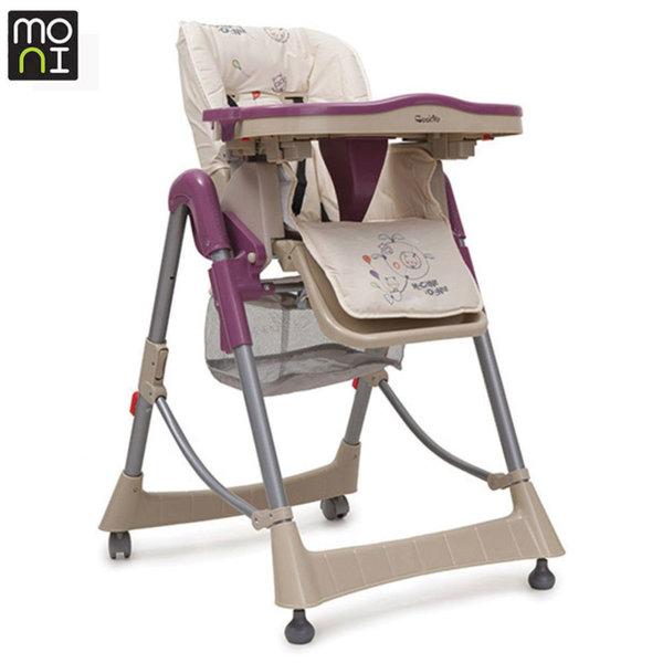 Moni Детски стол за хранене Cookie лилав 102317