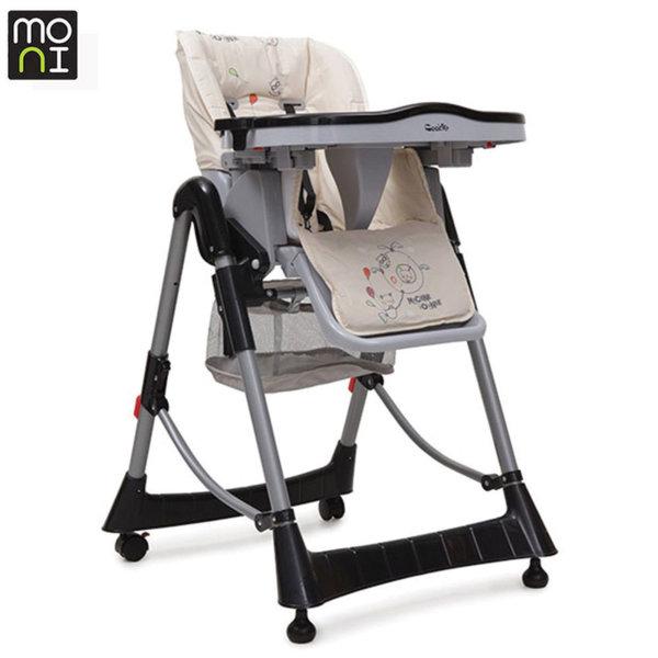 Moni Детски стол за хранене Cookie черен 102320