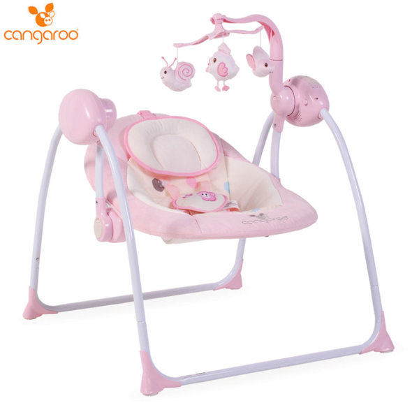 Cangaroo Бебешка люлка Baby Swing Plus розова 104125