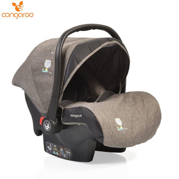 Cangaroo Детско столче кошничка за кола Stefanie (0-13кг) сиво 106044
