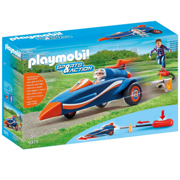 Playmobil Състезателна кола с изстрелвачка 9375