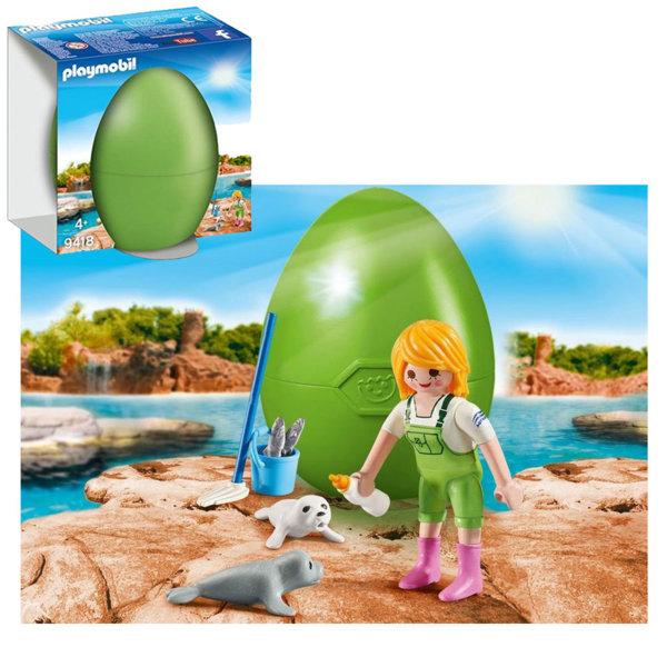Playmobil Великденско яйце Момиче с бебета тюлени 9418