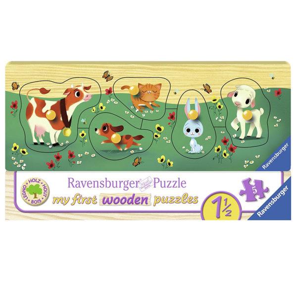 Ravensburger Дървен пъзел Животни приятели 03235