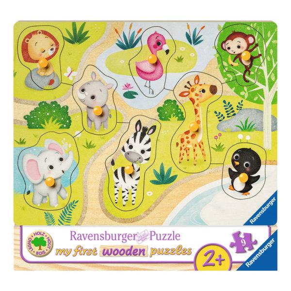 Ravensburger Дървен пъзел Животните от зоопарка 03687