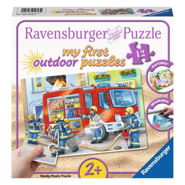 Ravensburger Детски пъзел 2+ Outdoor Пожарна команда 12 части 05613