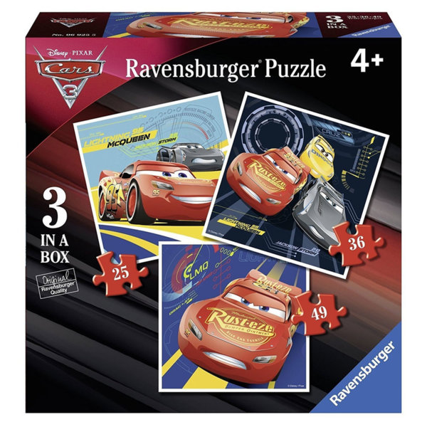 Ravensburger Пъзел 4+ Disney Колите 3в1 06925