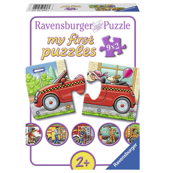 Ravensburger Детски пъзел 2+ Превозни средства 9х2 части 07036