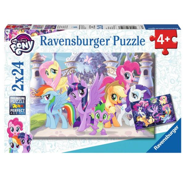 Ravensburger Детски пъзел 4+ My Little Pony Магически понита 2х24 части 07812