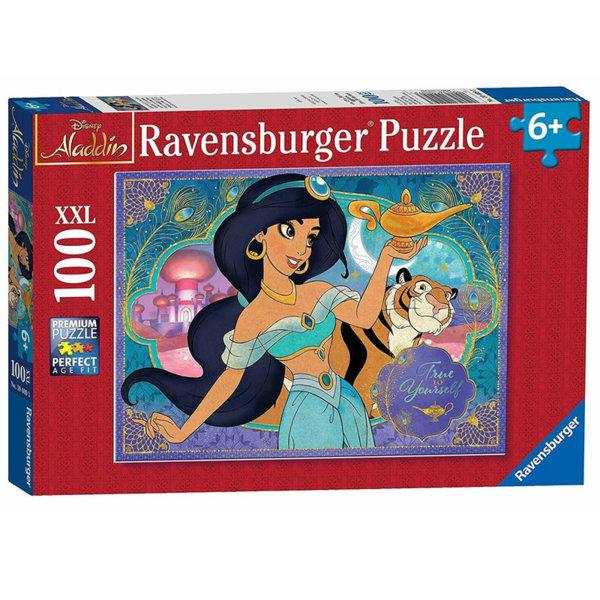 Ravensburger Детски пъзел 6+ Disney Аладин и вълшебната лампа 100 части XXL 10409