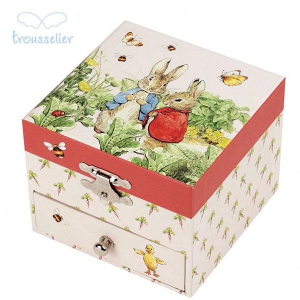 Trousselier Музикална кутия зайчето Питър в градината 20861