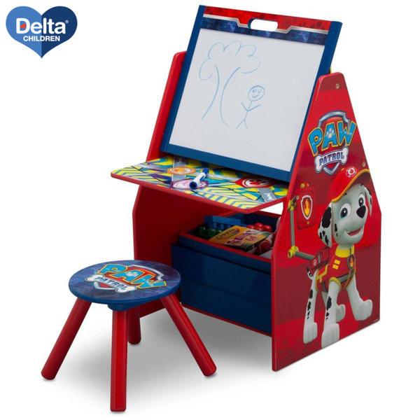 Delta Children Детски чин със столче и поставка за книги 3в1 Paw Patrol TE87595PW