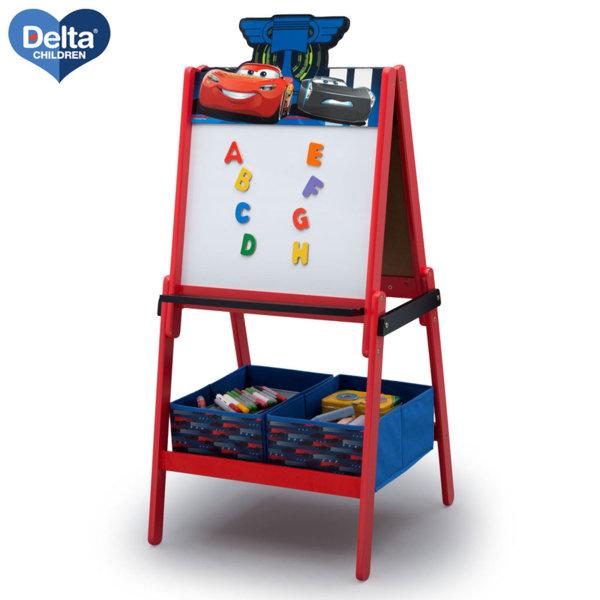 Delta Children Детска двустранна дъска за рисуване Disney Колите TE87589CR