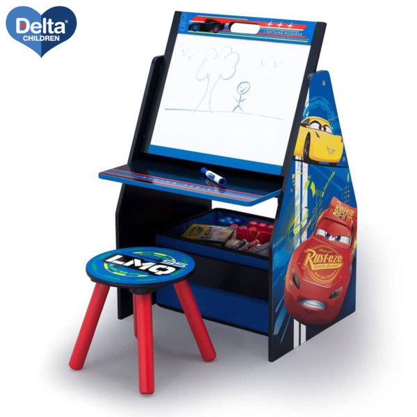 Delta Children Детски чин със столче и поставка за книги 3в1 Disney Колите TE87518CR