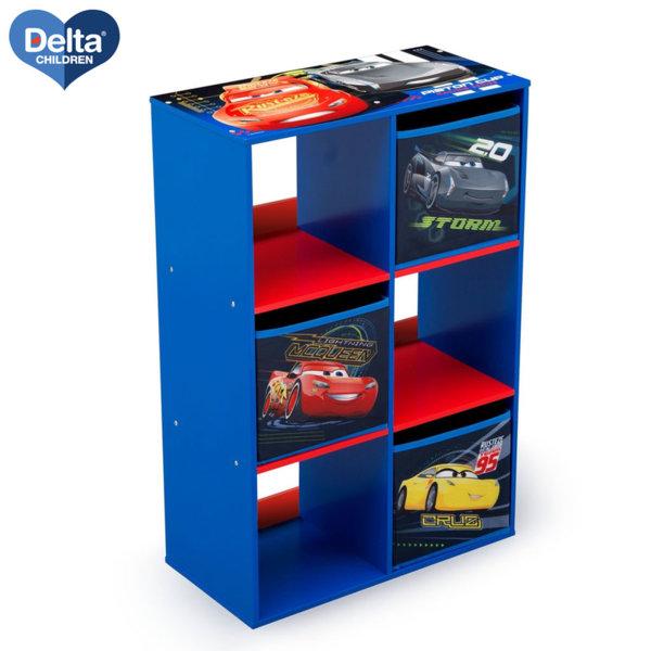 Delta Children Дървена етажерка с 3 кутии Disney Колите TB83393CR
