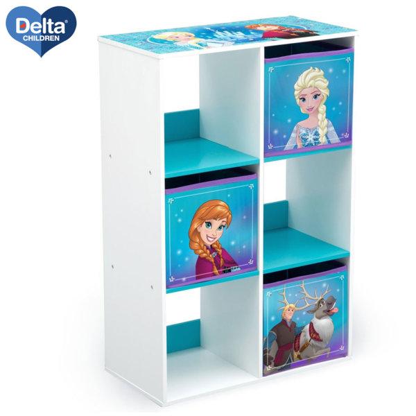 Delta Children Дървена етажерка с 3 кутии Disney Замръзналото кралство TB83391FZ