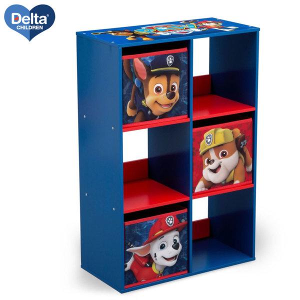 Delta Children Дървена етажерка с 3 кутии Paw Patrol TB83390PW