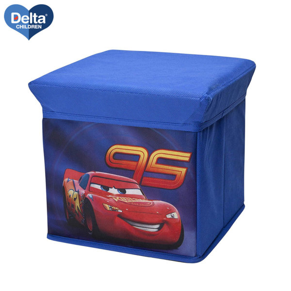 Delta Children Детска табуретка и кутия за играчки 2в1 Disney Колите TC85852CR
