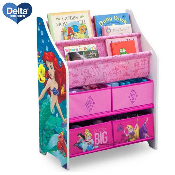Delta Children Дървена етажерка за книжки и играчки Disney Принцеси TB83350PS