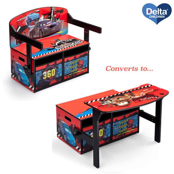 Delta Children Детски чин, пейка и органайзер 3в1 Disney Колите TB84522CR