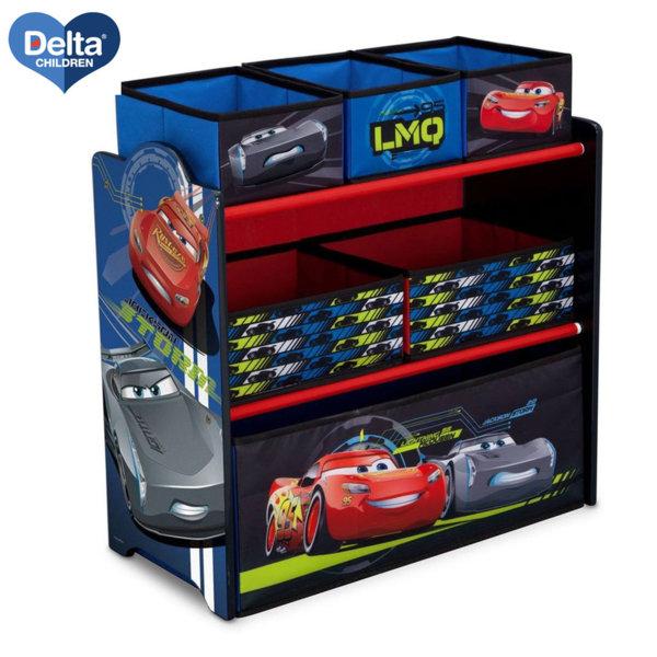Delta Children Дървена етажерка с 6 кутии Disney Колите TB83349CR