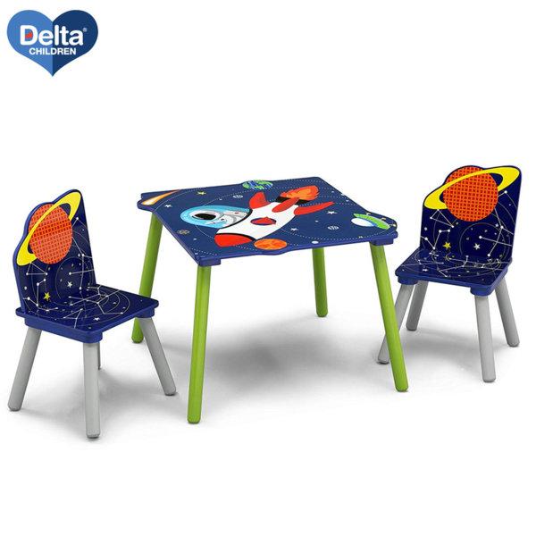 Delta Children Детска дървена маса със столчета Astronaut tt87402aa