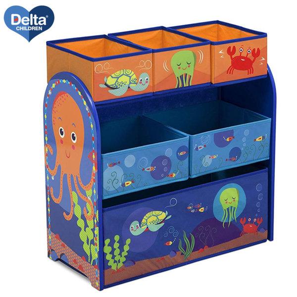 Delta Children Дървена етажерка с 6 кутии Ocean tb83402ta