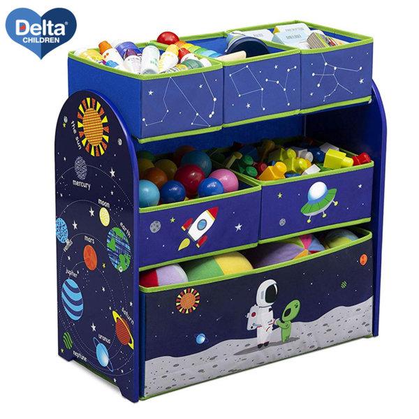 Delta Children Дървена етажерка с 6 кутии Astronaut TB83402AA