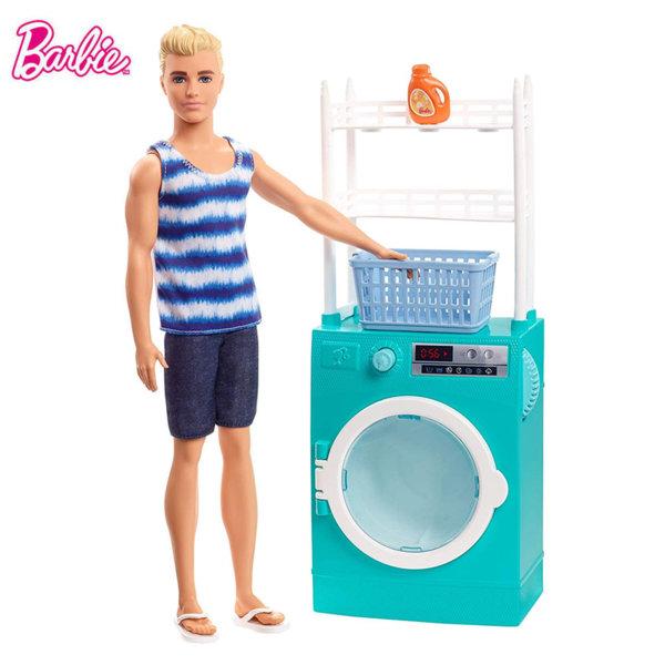 Barbie Кукла Кен в перално помещение FYK51