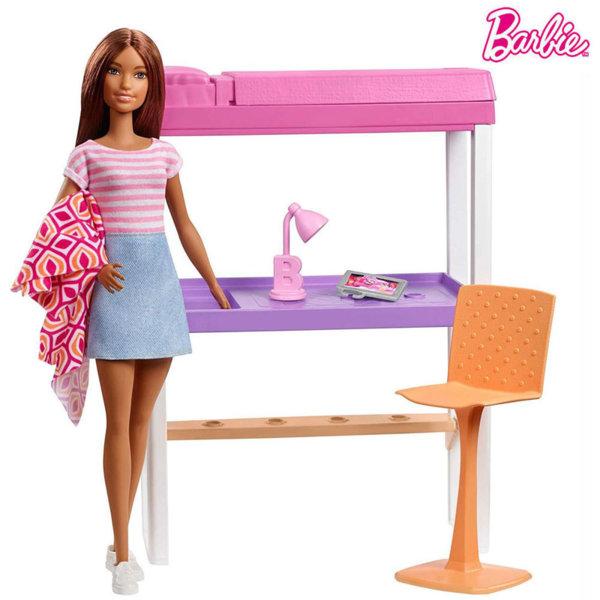 Barbie Кукла Барби Обзавеждане 2в1 легло и офис DVX51