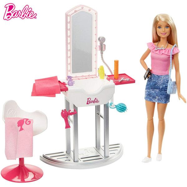 Barbie Кукла Барби фризьорски салон DVX51