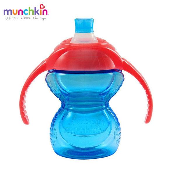 Munchkin Преходна неразливаща се чаша с дръжки Click Lock 237ml синя 12291