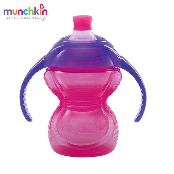 Munchkin Преходна неразливаща се чаша с дръжки Click Lock 237ml розова 12291