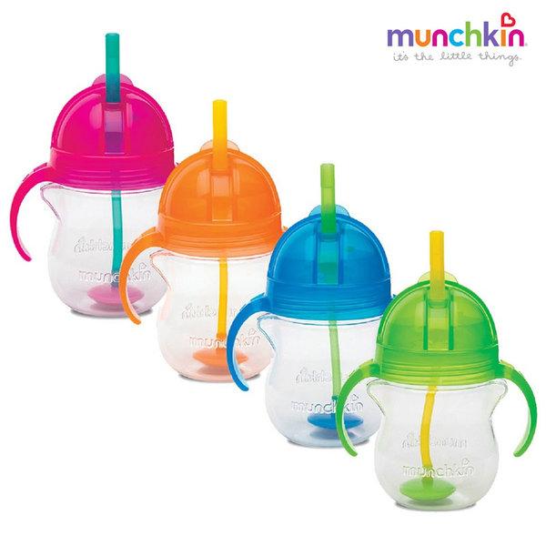Munchkin Неразливаща се чаша с дръжки и сламка с тежест Click Lock 207ml 11888