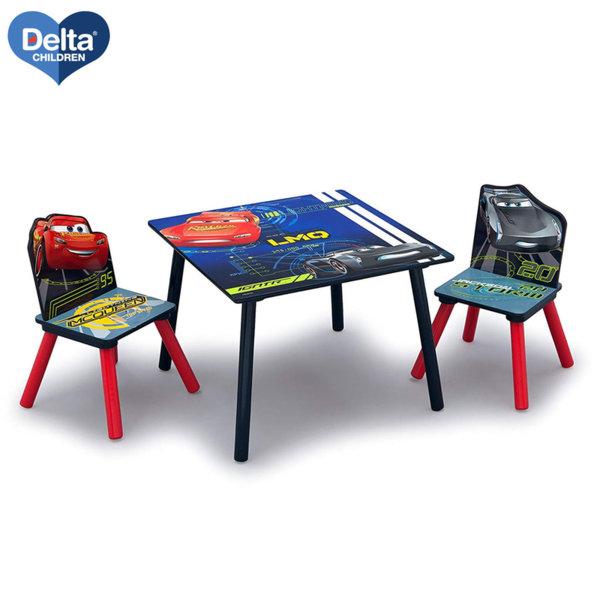 Delta Children Детска дървена маса със столчета Disney Колите tt89581cr