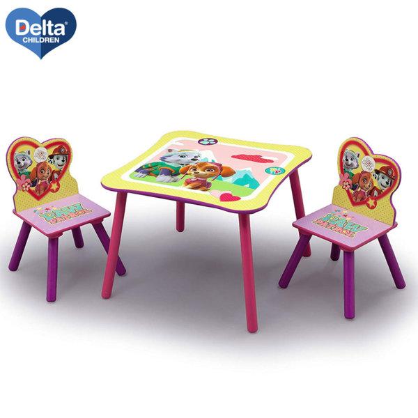Delta Children Детска дървена маса със столчета Paw Patrol TT89578PW