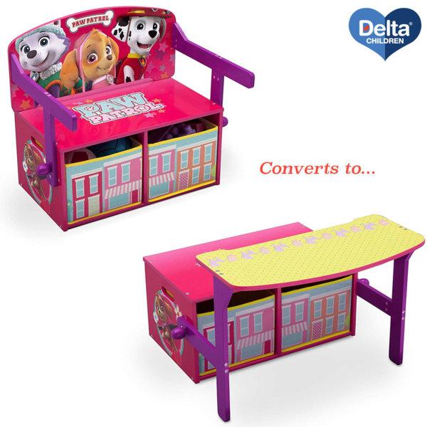 Delta Children Детски чин, пейка и органайзер 3в1 Paw Patrol tb83364pw