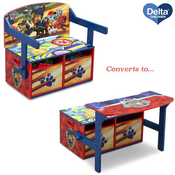 Delta Children Детски чин, пейка и органайзер 3в1 Paw Patrol TB83332PW