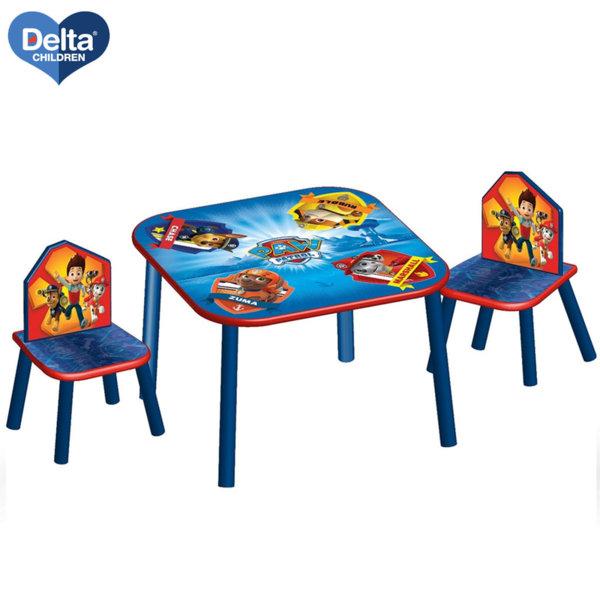 Delta Children Детска дървена маса със столчета Paw Patrol TT89528PW