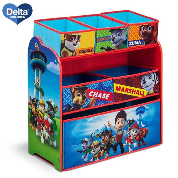 Delta Children Дървена етажерка с 6 кутии Paw Patrol TB84998PW