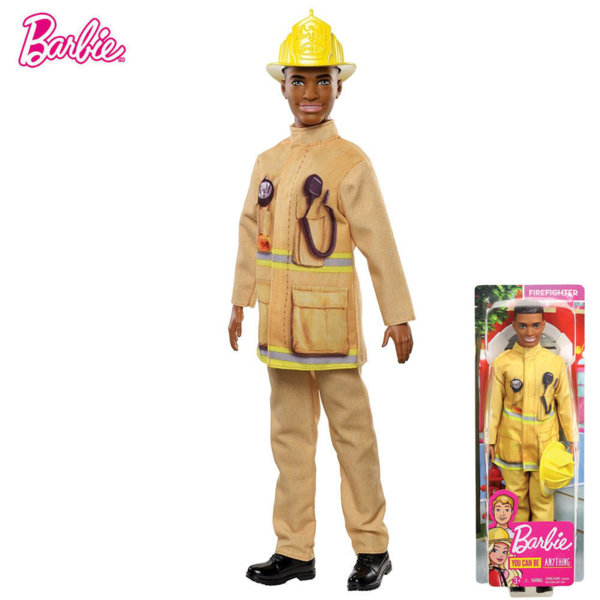 Barbie You Can Be Ken Кукла Кен пожарникар FXP01