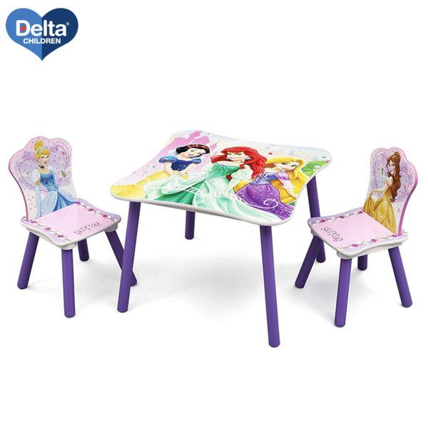 Delta Children Детска дървена маса със столчета Disney Принцеси Tt89511ps