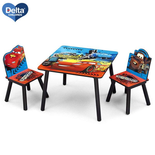 Delta Children Детска дървена маса със столчета Disney Колите TT89504CR