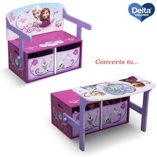 Delta Children Детски чин, пейка и органайзер 3в1 Disney Frozen TB83234FZ