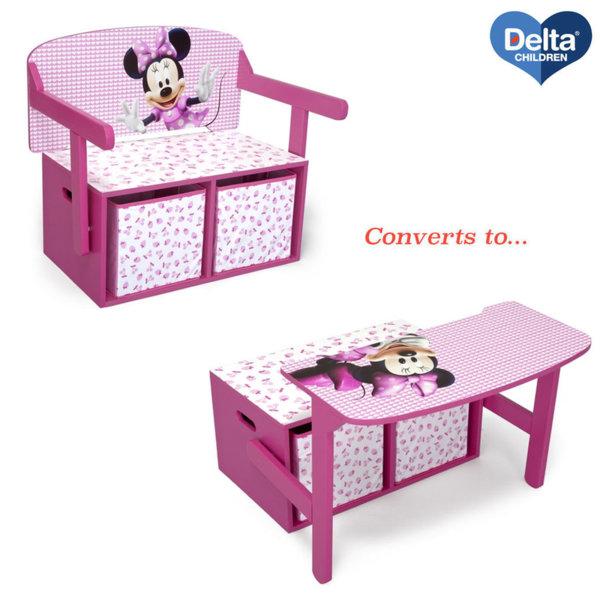 Delta Children Детски чин, пейка и органайзер 3в1 Disney Мини Маус TB84865MN