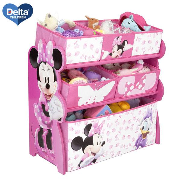 Delta Children Дървена етажерка с 6 кутии Disney Мини Маус TB84869MN