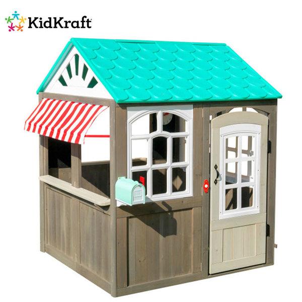 KidKraft Детска дървена крайбрежна вила за игра Cottage Playhouse 00408