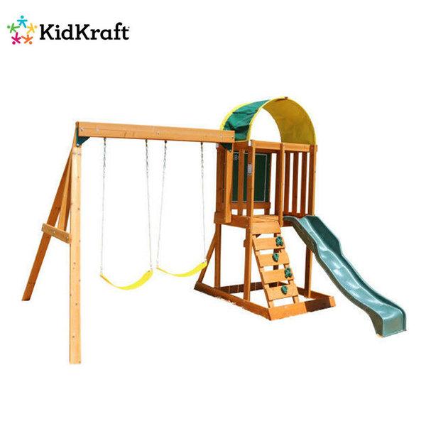 KidKraft Детски дървен център с люлки и пързалка Ainsley 26415