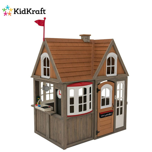 KidKraft Детска дървена къща за игра Greystone Cottage 280093