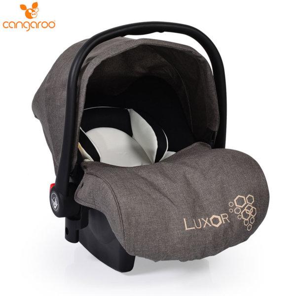Cangaroo Детско столче кошничка за кола Luxor (0-13кг) сива 104113