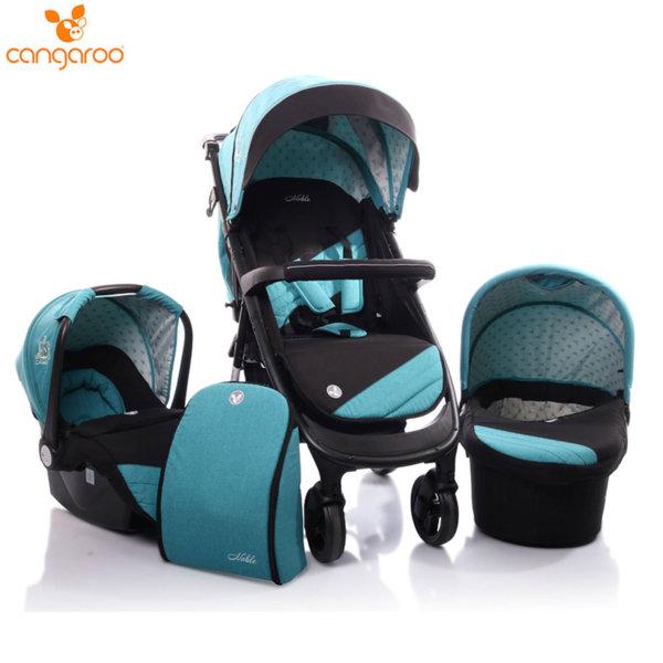 Cangaroo Комбинирана детска количка Noble 3в1 синя 106507